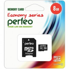 Карта памяти Perfeo microSD 8GB High-Capacity (Class 10) economy series