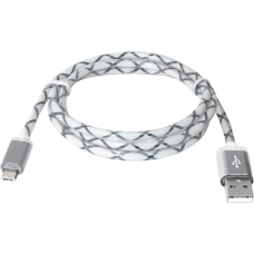 USB кабель Defender USB08-03LT USB2.0 серый, LED, AM-MicroBM, 1м