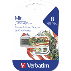 USB флешка VERBATIM 8GB MINI TATTOO EDITION PHOENIX