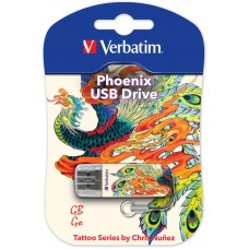 USB Флеш память Verbatim 8 Gb (Mini Tattoo Edition Phoenix, USB 2.0)