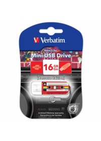 USB Флеш память Verbatim 32 Gb (Mini Cassette Edition, USB 2.0, Red)