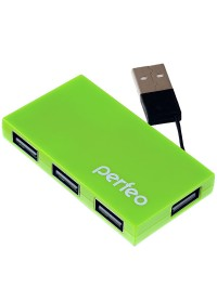 USB Хаб Perfeo USB-HUB 4 Port, (PF-VI-H023 Green)